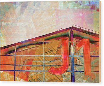 J1 Marseille, Hangar Wood Print