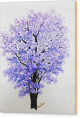 Jacaranda Time Wood Print by Karin  Dawn Kelshall- Best