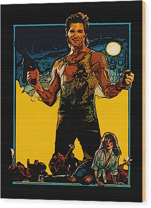 Jack Burton Wood Print by Jeff DOttavio
