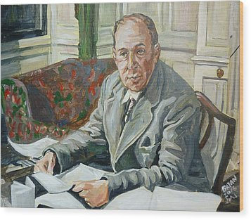 Jack C S Lewis Wood Print