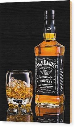 Jack Daniel's Wood Print by Mihai Andritoiu