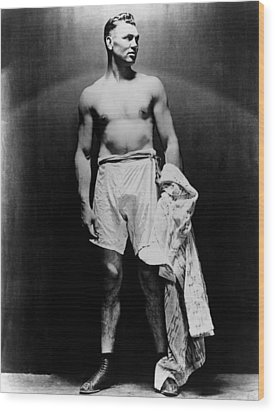 Jack Dempsey, Circa 1920s Wood Print by Everett