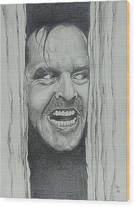 Jack Nicholson Wood Print by Stephen Sookoo