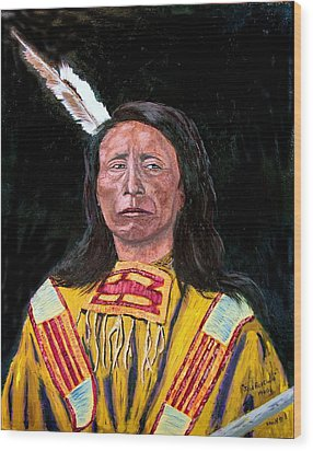 Jack Red Cloud Wood Print by Stan Hamilton