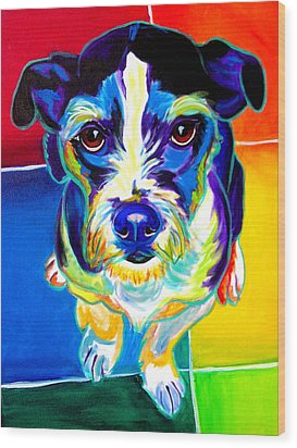 Jack Russell - Pistol Pete Wood Print by Alicia VanNoy Call