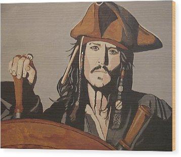Jack Sparrow Wood Print by Bob Gregory