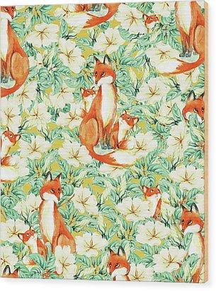 Jackals Wood Print by Uma Gokhale