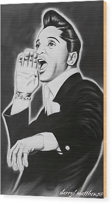 Wood Print featuring the painting Jackie Wilson by Darryl Matthews