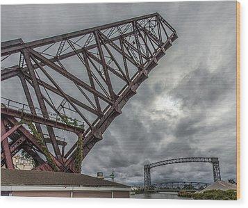 Jackknife Bridge To The Clouds Wood Print
