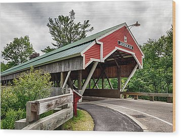 Jackson Covered Bridge Wood Print by Betty Denise