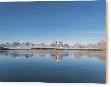 Wood Print featuring the photograph Jackson Lake by Mary Hone