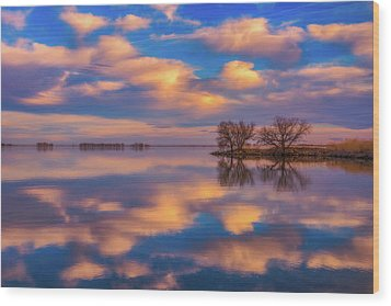 Wood Print featuring the photograph Jackson Lake Sunset by Darren White