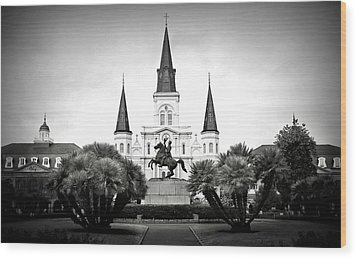 Jackson Square 2 Wood Print by Perry Webster