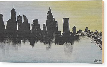 Wood Print featuring the painting Jacksonville Florida by Gary Smith