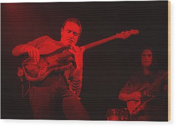 Jaco On Air - Red Wood Print by Philippe Taka