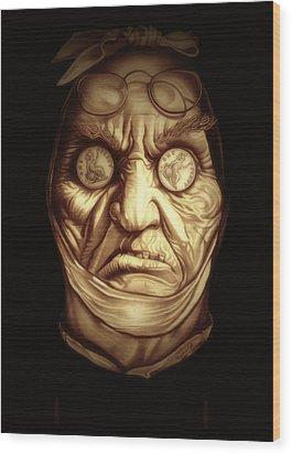 Jacob Marley Wood Print by Fred Larucci