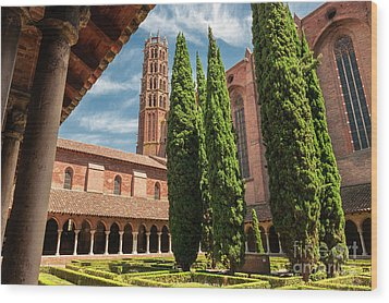Wood Print featuring the photograph Jacobin Convent In Toulouse by Elena Elisseeva