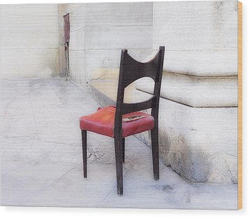 Jacob's Chair Wood Print by Artecco Fine Art Photography