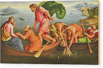Wood Print featuring the photograph Jacopo Bassano Fishes Miracle by Munir Alawi