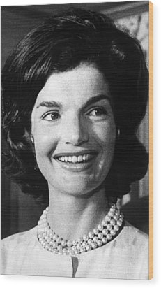 Jacqueline Kennedy As First Lady. Ca Wood Print by Everett