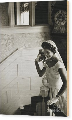 Jacqueline Kennedy Wood Print by Granger