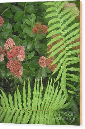 Jacqueline's Garden - Camaraderie Of Textures Too Wood Print by Lucyna A M Green