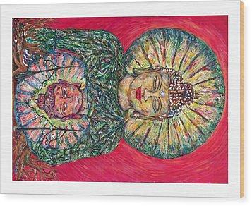 Jade Buddah Wood Print by Joseph Lawrence Vasile