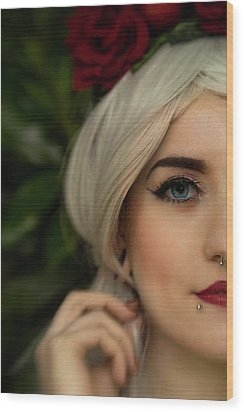 Jade Close Crop Wood Print