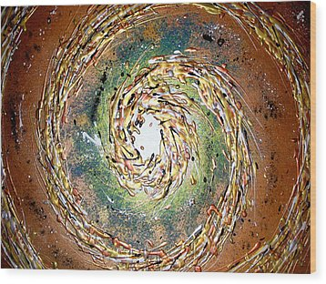 Jade Cyclone Wood Print by Daniel Lafferty