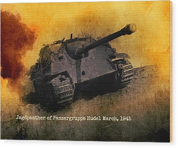 Wood Print featuring the digital art Jagdpanther German Ww2 Tank by John Wills