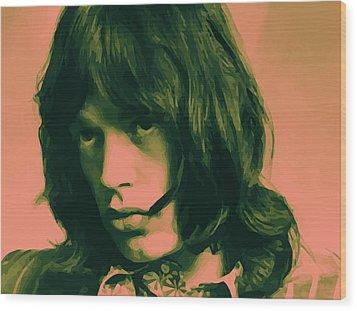 Jagger 01 Wood Print by Daniel elias Bravo