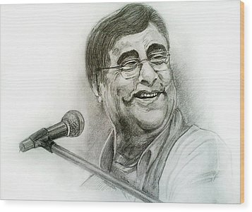 Jagjit Singh Wood Print by Mayur Sharma