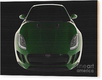 Jaguar F-type - Front View Wood Print