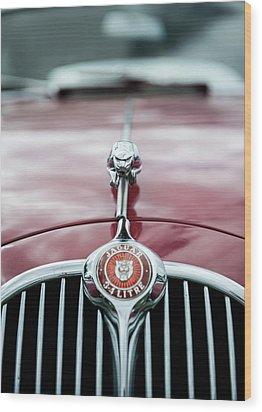 Jaguar Grille Wood Print by Helen Northcott