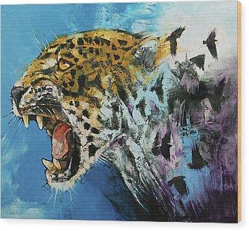 Jaguar Wood Print by Michael Creese