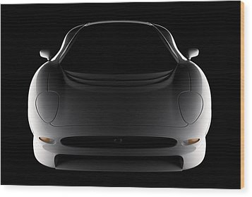 Jaguar Xj220 - Front View Wood Print