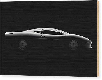 Jaguar Xj220 - Side View Wood Print