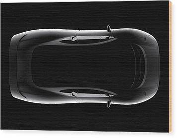 Jaguar Xj220 - Top View Wood Print