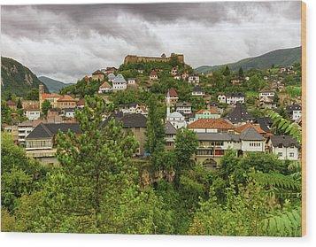 Jajce, Bosnia And Herzegovina Wood Print by Elenarts - Elena Duvernay photo