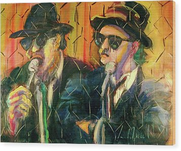 Jake And Elwood Wood Print by Les Leffingwell