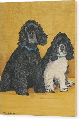 Jake And Lucy Wood Print by Sharon Farber