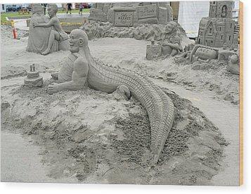 Jake The Alligator Man  Wood Print by Pamela Patch
