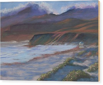 Jalama Beach At Sunset Wood Print by Laurie Paci