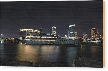 Wood Print featuring the photograph Jamaica Bay by Randy Scherkenbach