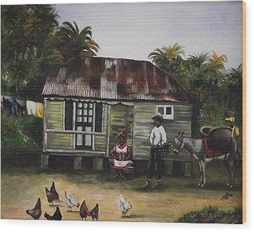 Jamaican Homestead Wood Print by Kim Selig