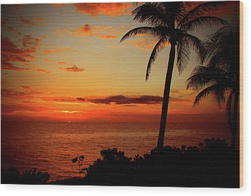 Jamaican Sunset Wood Print by Kamil Swiatek