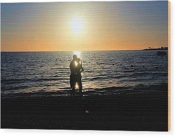 Jamaican Sunset Kiss By Steve Ellenburg Wood Print by Steve Ellenburg