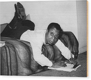 James Baldwin, 1963 Wood Print by Everett