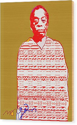 James Baldwin Wood Print by Noredin Morgan