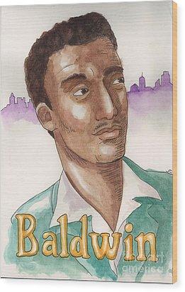James Baldwin Wood Print by Whitney Morton